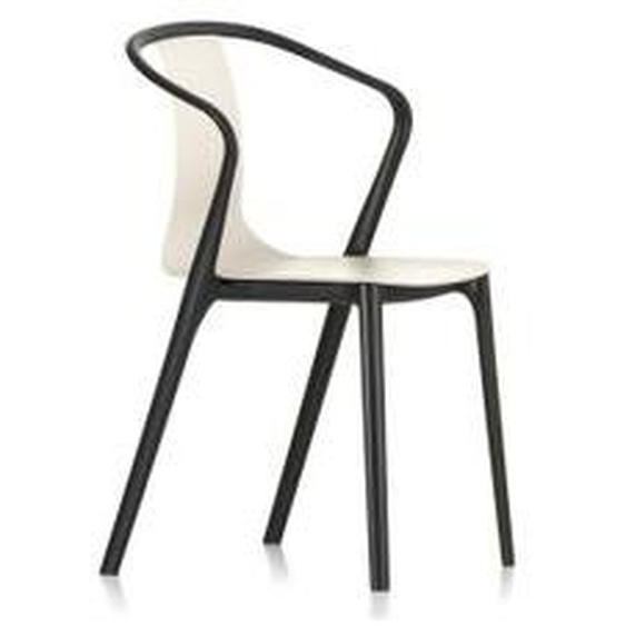 Vitra - Belleville Armchair Plastic, tiefschwarz / cremé