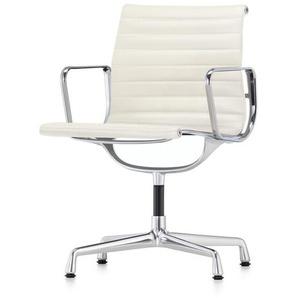 Vitra Besucherstuhl Alu-Chair weiß, Designer Charles & Ray Eames, 83x57.5x59 cm