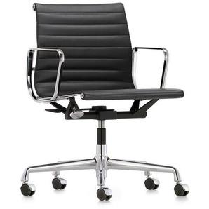Vitra Bürodrehsessel Alu-Chair schwarz, Designer Charles & Ray Eames, 83-95x58x56-65 cm