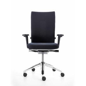 Vitra Bürodrehstuhl mit 2D-Armlehnen ID Soft L schwarz, Designer Antonio Citterio, 102-120x70x52-76 cm