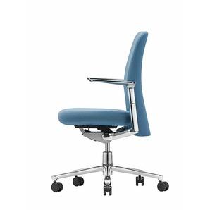 Vitra Bürodrehstuhl Pacific Chair blau, Designer Edward Barber & Jay Osgerby, 90-108x57.5x50-77 cm