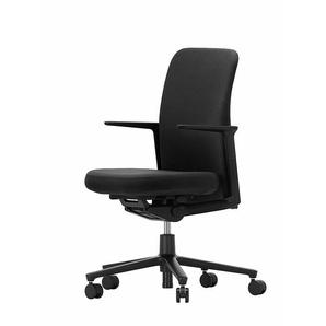 Vitra Bürodrehstuhl Pacific Chair schwarz, Designer Edward Barber & Jay Osgerby, 90-108x57.5x50-77 cm