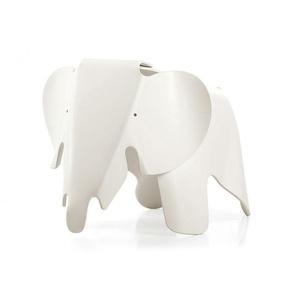 Vitra Eames Elephant Kinderhocker weiß, Designer Charles & Ray Eames, 41.5x41 cm
