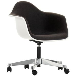 Vitra Eames Plastic Armchair PACC Drehstuhl weiß, Designer Charles & Ray Eames, 75.5-89x62.5x60 cm