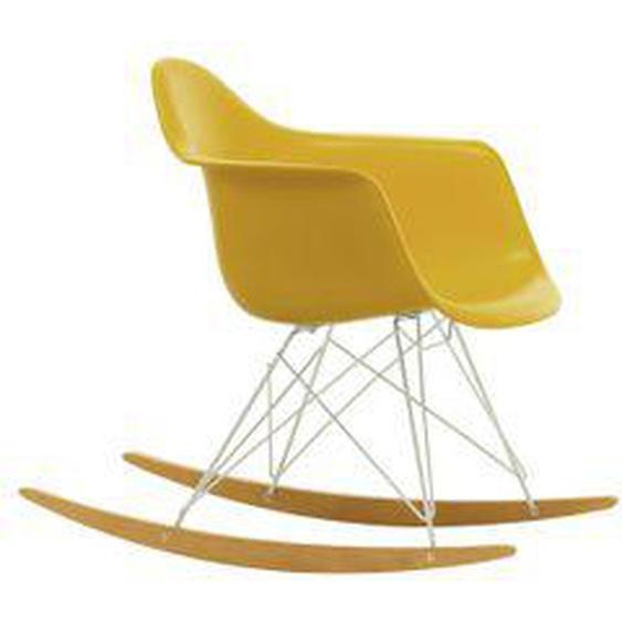 Vitra - Eames Plastic Armchair RAR, Ahorn gelblich / weiß / senf