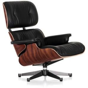 Vitra Lounge Chair XL schwarz, Designer Charles & Ray Eames, 89x84x85-92 cm