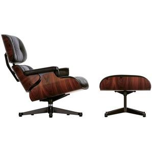 Vitra Lounge Chair XL und Ottoman Schwarz, Designer Charles & Ray Eames