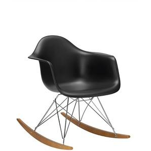Vitra Schaukelstuhl, RAR Eames Plastic Armchair silber, Designer Charles & Ray Eames, 76x63x81 cm