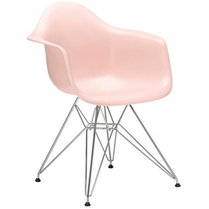 Vitra Stuhl Eames Plastic Armchair DAR 83x63x59 cm, Gestell: verchromt, Designer Charles & Ray Eames