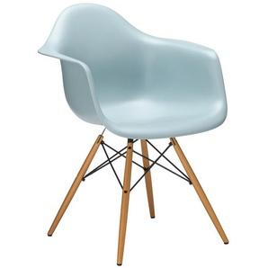 Vitra Stuhl Eames Plastic Armchair DAW, Gestell: Ahorn, Designer Charles & Ray Eames