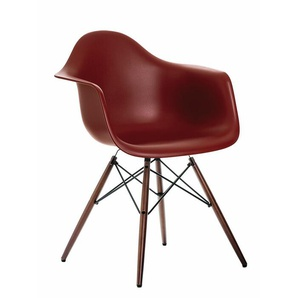 Vitra Stuhl Eames Plastic Armchair DAW, Gestell: Ahorn nussbaumfarbig, Designer Charles & Ray Eames