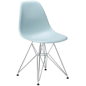 Vitra Stuhl Eames Plastic Side Chair  83x46.5x55 cm grau, Gestell: verchromt, Designer Charles & Ray Eames