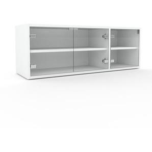 Vitrine Kristallglas klar - Moderne Glasvitrine: Türen in Kristallglas klar - Hochwertige Materialien - 116 x 41 x 35 cm, Selbst zusammenstellen