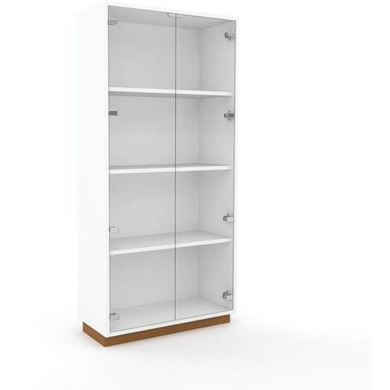 Vitrine Kristallglas klar - Moderne Glasvitrine: Türen in Kristallglas klar - Hochwertige Materialien - 77 x 162 x 35 cm, Selbst zusammenstellen