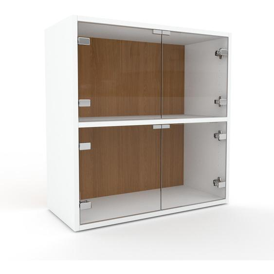 Vitrine Kristallglas klar - Moderne Glasvitrine: Türen in Kristallglas klar - Hochwertige Materialien - 77 x 80 x 35 cm, Selbst zusammenstellen