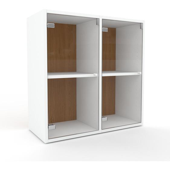 Vitrine Kristallglas klar - Moderne Glasvitrine: Türen in Kristallglas klar - Hochwertige Materialien - 79 x 80 x 35 cm, Selbst zusammenstellen