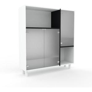 Vitrine Kristallglas satiniert - Moderne Glasvitrine: Türen in Kristallglas satiniert - Hochwertige Materialien - 116 x 130 x 35 cm, Selbst zusammenstellen