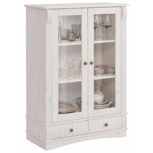 Home affaire Vitrine mit 2 Glastüren und 2 Schubladen, weiß, Landhaus-Stil, »Teresa«, , , FSC®-zertifiziert