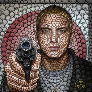 Vliestapete »Ben Heine Circlism: Eminem«, , bunt