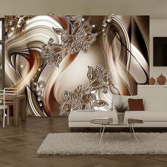 Artgeist Vliestapete Brown Symphony Premium Vlies Kupfer/Champagner Rechteckig 150x105 cm (BxH)