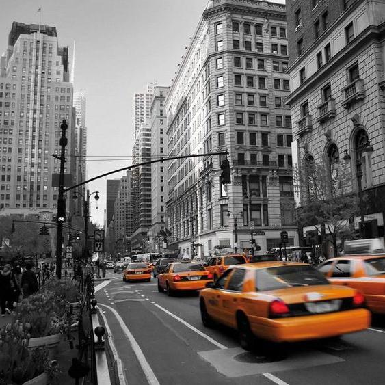 Vliestapete »Cabs in Manhattan«, schwarz