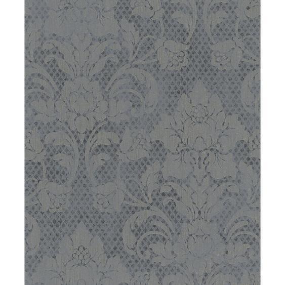 Vliestapete Catania florales Damastmotiv Grau-Silber