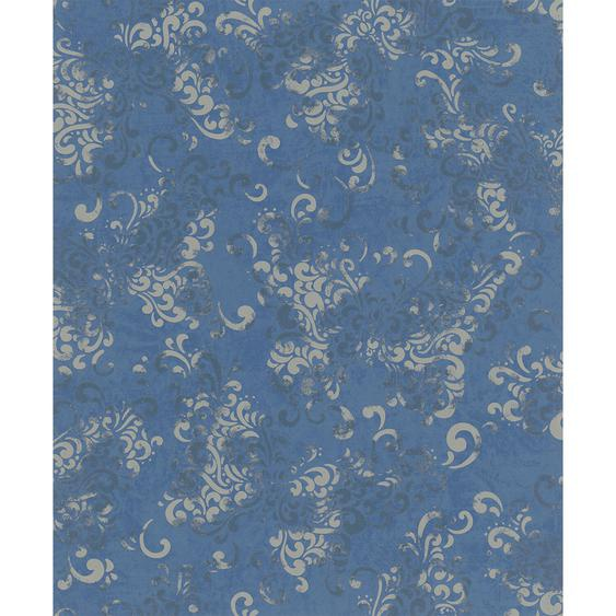 Vliestapete Catania Ornament Schmetterling Blau