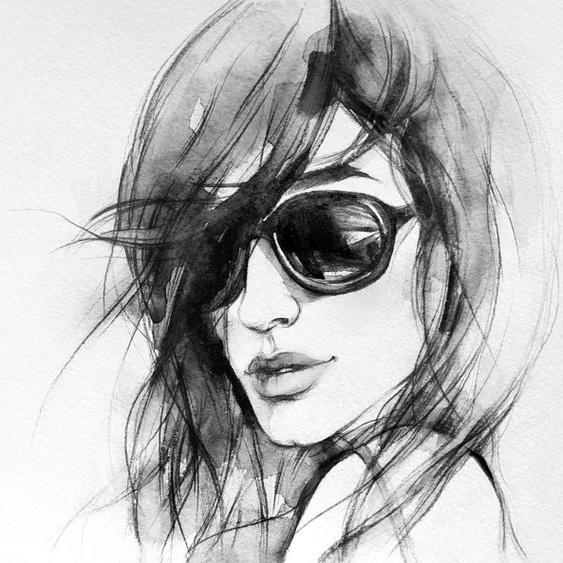 Wall-Art Vliestapete I wear my sunglasses Maße (B/H): (288/260 cm) weiß Fototapeten Tapeten Bauen Renovieren