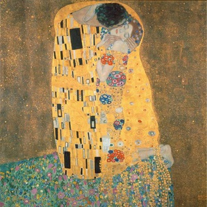 Vliestapete »Klimt - Der Kuss«, , bunt