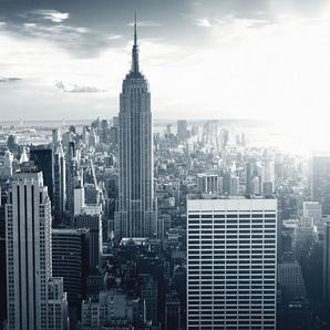 Vliestapete »The Empire State Building«, , grau