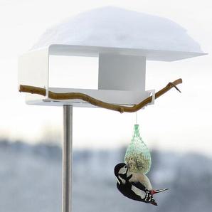 Vogelfutterhaus Opossum Design grau, Designer Richard Sinnig, 162x36x24 cm