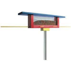 Vogelfutterstelle Langbank tät tat blau, Designer tät-tat, B+B Martig-Imhof, 18x60x10 cm