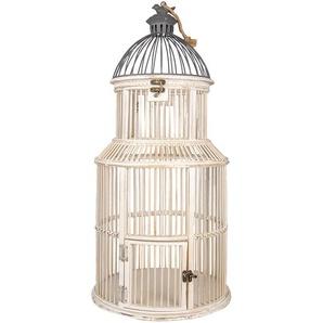 Vogelkäfig | Ø 36*78 cm | Weiß | Holz | Rund | Clayre & Eef | 5H0490