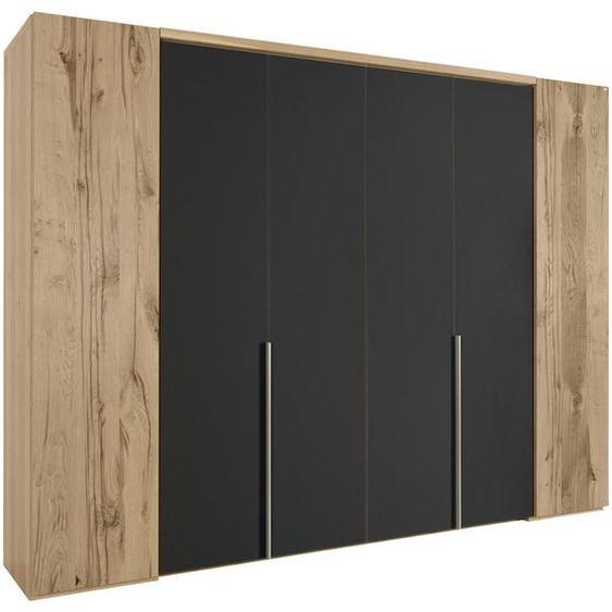 Voglauer Falttürenschrank 6 -türig Eiche furniert, mehrschichtige Massivholzplatte (Tischlerplatte) Braun , Holz , 8 Fächer , 302x229.9x64.9 cm