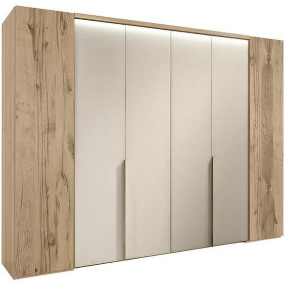 Voglauer Falttürenschrank 6 -türig Eiche furniert, mehrschichtige Massivholzplatte (Tischlerplatte) Weiß, Braun , Holz , 8 Fächer , 302x229.9x64.9 cm
