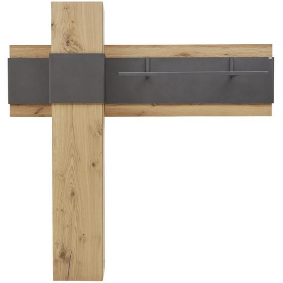 Voglauer Garderobe Braun , Holz, Metall , Wildeiche , furniert, mehrschichtige Massivholzplatte (Tischlerplatte) , 178.4x176x38.5 cm