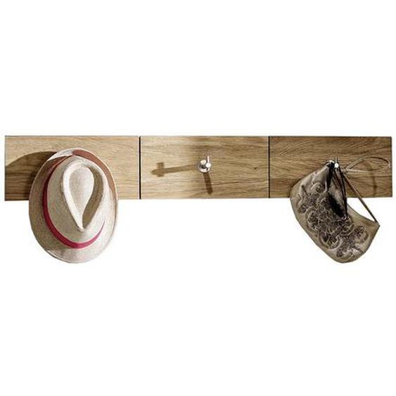 Voglauer Garderobenleiste Wildeiche massiv Braun , Holz , 96x15.6x5.2 cm