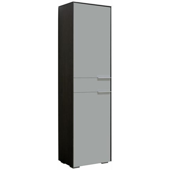 Voleo Garderobenschrank Grau, Grau , Holzwerkstoff , 7 Fächer , 55.8x199.1x37.3 cm