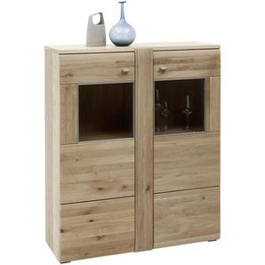 Voleo: Highboard, Holzwerkstoff,Eiche, Eiche, B/H/T 101 121 38