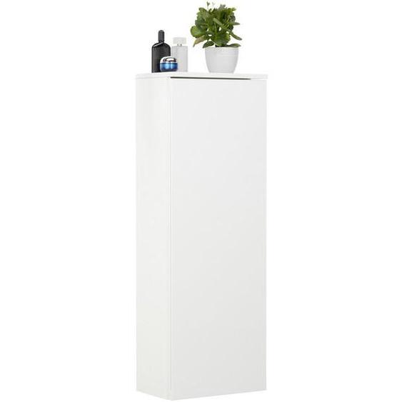 Voleo Midischrank Weiß , Glas, Holzwerkstoff , 4 Fächer , 40.5x115.5x26 cm