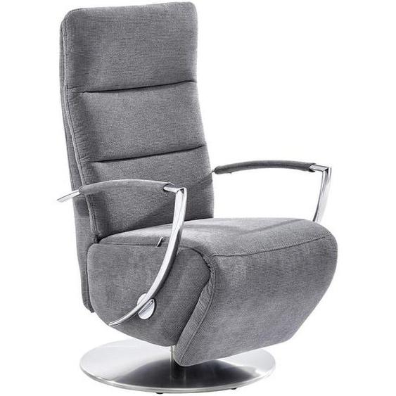 Voleo Relaxsessel , Grau , Textil , Uni , 64x112x80 cm