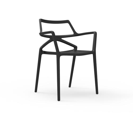 Vondom - Delta Armlehnstuhl - schwarz - outdoor