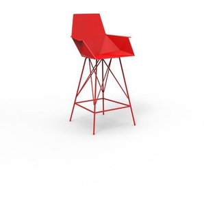 Vondom - FAZ Barhocker mit Armlehnen - rot - outdoor
