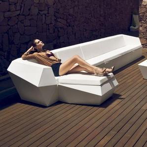 Vondom FAZ Outdoor Lounge-Hocker Basic matt / Blau