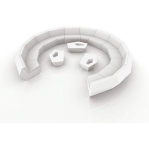 Vondom FAZ Outdoor Modul Eckmodul 90° / Basic matt / Rot / B 100 x H 70 x T 100 cm