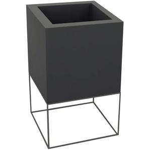 Vondom - VELA Cube Blumentopf - 60x60x100 - lackiert - anthrazit - outdoor