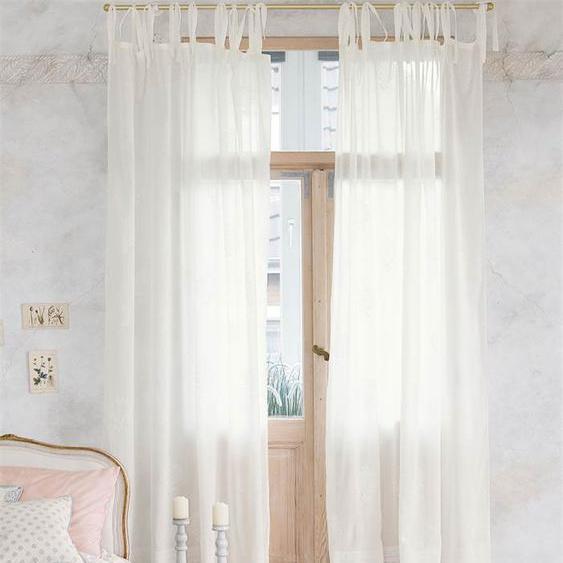 Vorhang Belmont - Creme/Weiß - 100 % Baumwolle - Zierkissen & Polsterrollen  Zierkissen