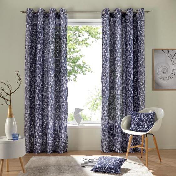 Vorhang »Camposa«, my home, Ösen (2 Stück), Gardine, Fertiggardine, halbtransparent
