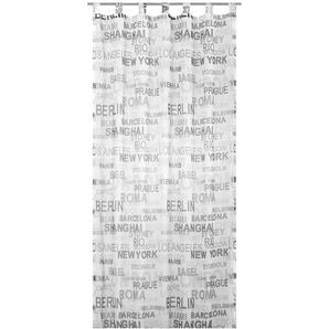 Vorhang »City«, ELBERSDRUCKE, Schlaufen (1 Stück), Transparent