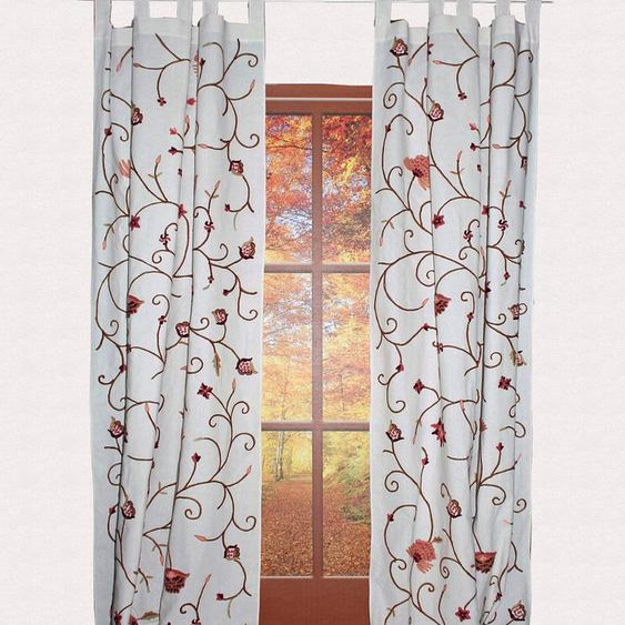 Vorhang »Grundlsee«, HOSSNER - ART OF HOME DECO, Schlaufen (1 Stück), rustikaler Shabby-Look